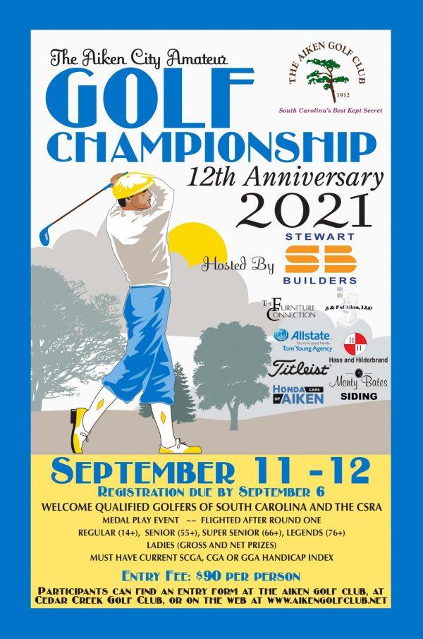 2020 Golf Poster Fuschia